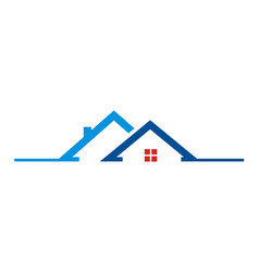 House roof building logo vector