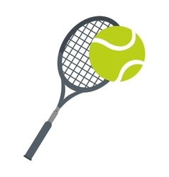 racket ball tennis equipment icon vector image