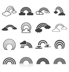Rainbow icons vector image