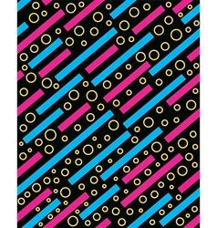 Retro 80s memphis pattern background vector image vector image