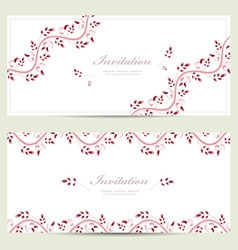 romantic floral invitation cards for your design vector image vector image