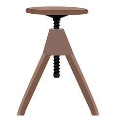 Wooden screw stool vector image vector image