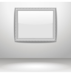 an empty frame on a wall vector image vector image