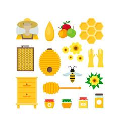 cartoon honey color set vector image vector image