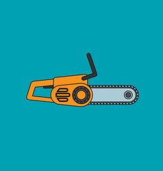chainsaw icon in flat style vector image vector image