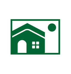 house image simple icon vector image vector image