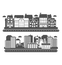 Landscape City Banner vector image vector image
