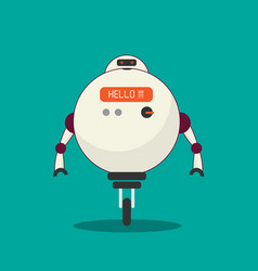 modern robot with artificial intelligence vector image vector image