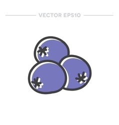 doodle icon blueberry vector image vector image