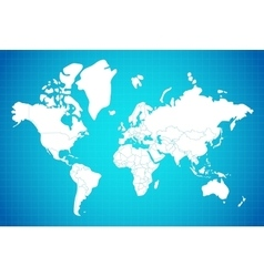 Earth Map Linear Composition vector image