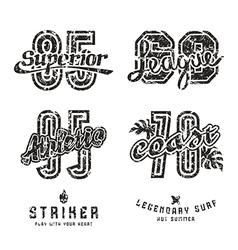 Set of sport design elements for emblems vector image vector image
