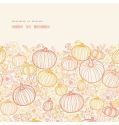 thanksgiving line art pumkins horizontal frame vector image