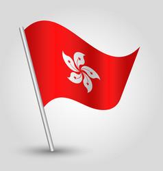 waving simple triangle hongkonger flag vector image vector image