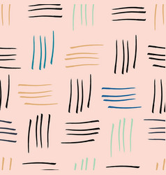 abstract watercolour stripes pink seamless pattern vector image