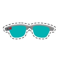 Ar smart glasses device virtual line vector