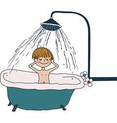 bath vector image