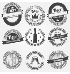 Beer labels or badges vector image