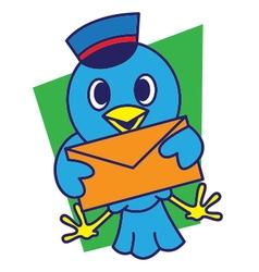 Bird Postmans vector image