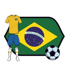 Brazil soccer uniform vector