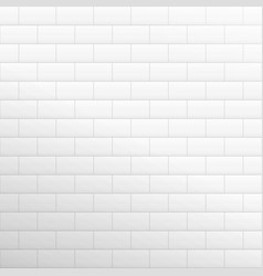 Brick wall light background white texture vector