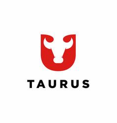 Bull cow buffalo head logo icon vector