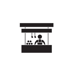 butcher shop black concept icon butcher vector image