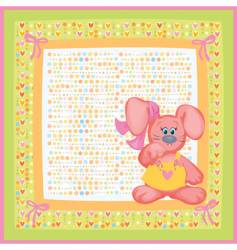 card for baby vector image
