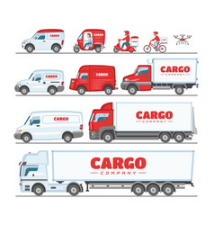 cargo truck van or minivan car for delivery vector image