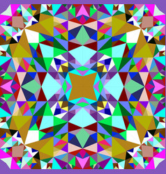Colorful seamless kaleidoscope pattern background vector