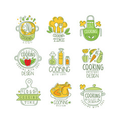 Cooking with love logo original design badge for vector