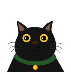 cute black cat funny cartoon character vector image