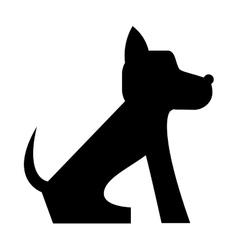 cute dog cartoon icon vector image