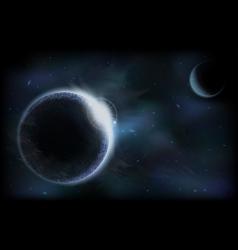 Dark planets vector image