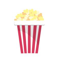 Delicious and salty popcorn to eat in the cinema vector
