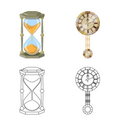 design of clock and time icon collection vector image