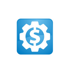dollar gear icon vector image