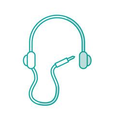 earphone device isolated icon vector image