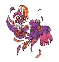 fashion couple of birds vector image