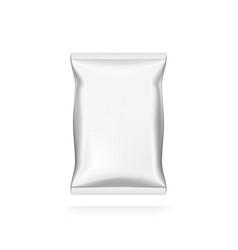 food snack pillow white bag for branding vector image