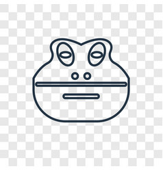 frog concept linear icon isolated on transparent vector image