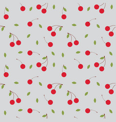 fruits cherry seamless patterns vector image