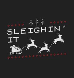 Funny christmas graphic print t shirt design vector