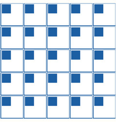 Geometric seamless pattern squares in a corner vector