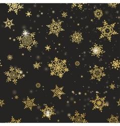 Golden snowflakes onblack background eps 10 vector