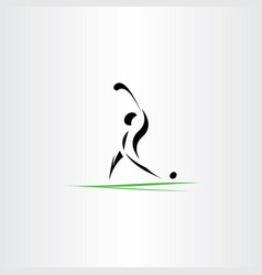 golfer man icon logo symbol element vector image