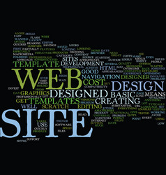 Good reasons to use web site templates text vector