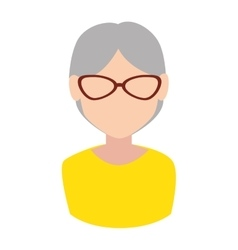 Grandmother old lady avatar design vector