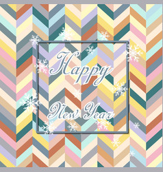 happy new year chevron holiday background vector image
