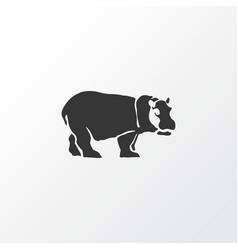 Hippo icon symbol premium quality isolated vector