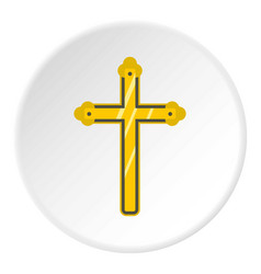 Holy cross icon circle vector